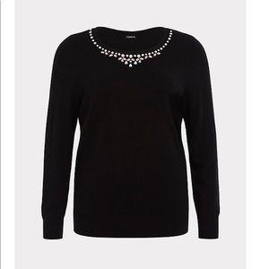 Torrid size 2 2x Embellished sweater nwot jeweled